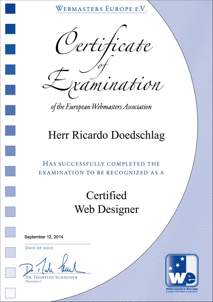 Certified Webdesigner