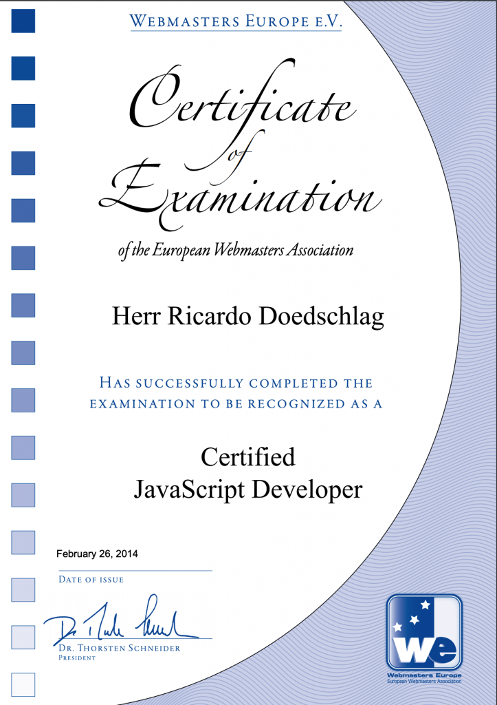 Certified JavaScript Developer