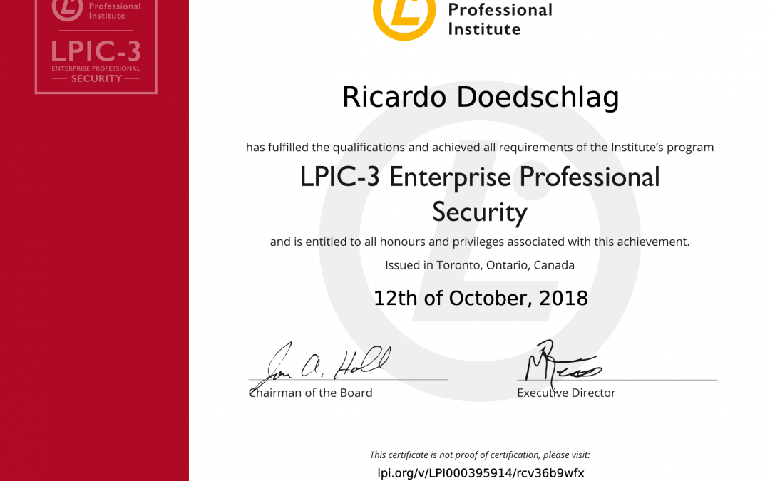 LPIC-3 303: Linux Enterprise Professional Security