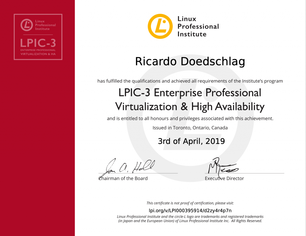 LPIC-3 304 Enterprise Professional Virtualization & High Availability
