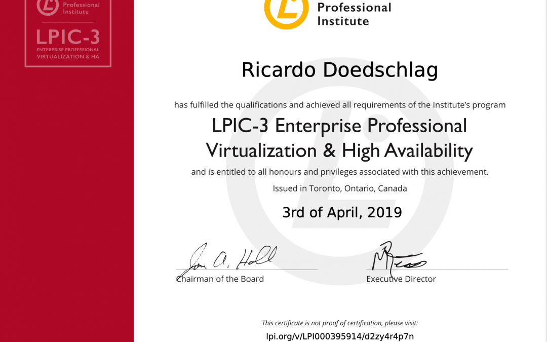 LPIC-3 304 Enterprise Professional Virtualization & High Availability